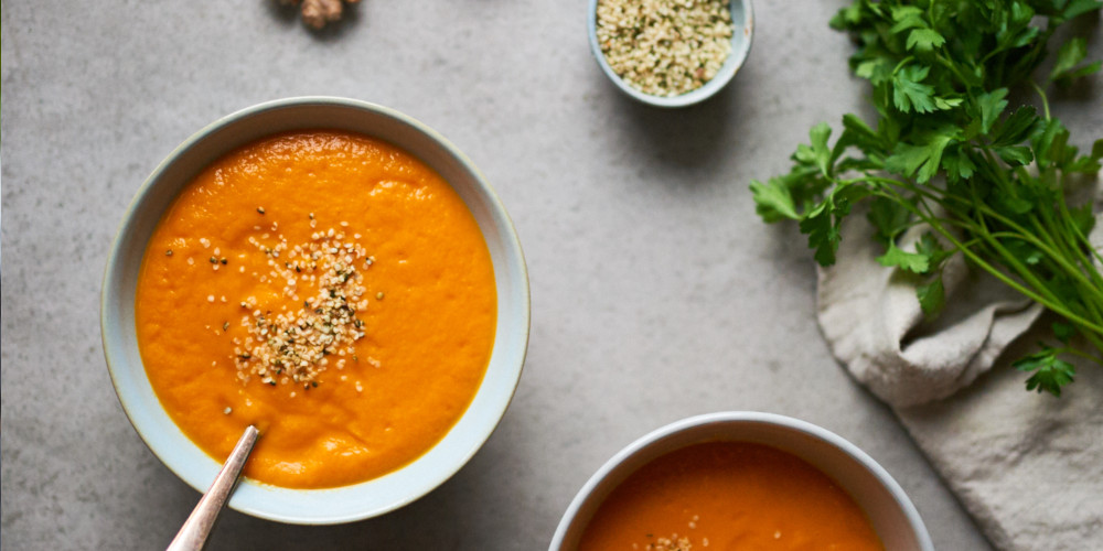 Raw Vegan Carrot & Ginger Soup
